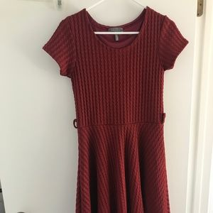 Gracia Pleated Red Dress